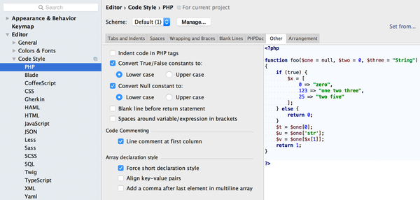 PhpStorm: Short hand syntax for arrays: Patrick Broens - TYPO3